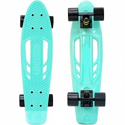 "Скейтборд RT Y-Scoo Skateboard Fishbone 22"" с ручкой и сумкой арт. 405, 56,6х15"