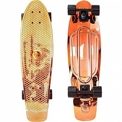 "Скейтборд RT Y-Scoo Big Fishskateboard metallic 27"" с сумкой арт. 402H, 68,6х19"